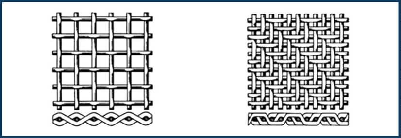 malla de alambre tejido liso