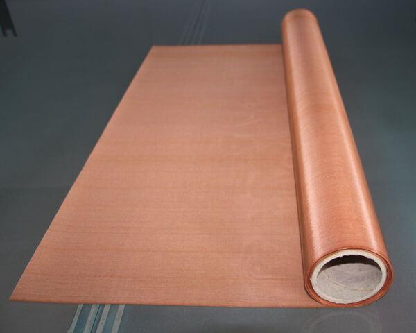 Malla metálica de cobre